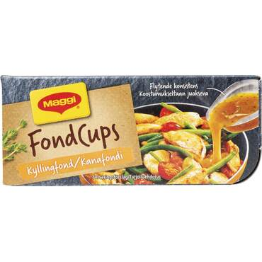 Fond cups kylling 4-pk