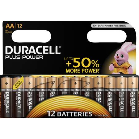 Batteri AA, 12-pk Plus Power, Duracell