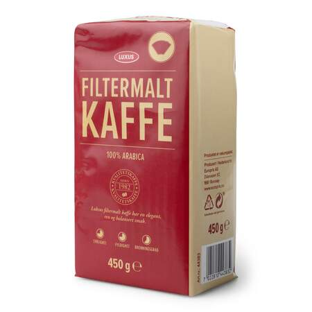 Kaffe Luxus filtermalt 450 g, Roast & ground
